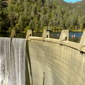 The North Fork Dam that creates Lake Clementine.- Lake Clementine Trail