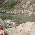 The sounds of the nearby river create a relaxing soaking experience.- Kirkham Hot Springs