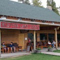 Enjoy the patio outside of Redfish Lake Lodge before and after your paddle adventure.- Redfish Lake