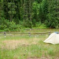 Paradise Campground is right on the banks of White Cap Creek.- Paradise Campground