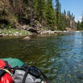 Packed up and drifting down the Selway.- Selway River