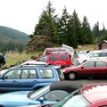 The parking lot is small and may require creative maneuvering.- Terwilliger Hot Springs