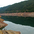 A view of Cougar Reservoir from the parking lot.- Terwilliger Hot Springs