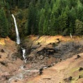 Rider Creek Falls is visible as you reach the parking lot.- Terwilliger Hot Springs