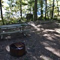 A typical site at Ivan Oakes Campground.- Ivan Oakes Campground