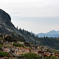 The view from Heart Lake.- Heart Lake