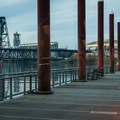 The floating walkway section of the Portland's Easbank Esplanade is the nation's longest.- Vera Katz Eastbank Esplanade