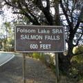 Signage at entrance to Folsom Lake State Recreation Area.- Darrington (Salmon Falls) Trail