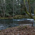 A quiet spot to contemplate the river.- Belknap Hot Springs Campground