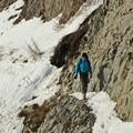 The trail narrows in some locations, and precise footing is important on icy days.- Mount Margaret via Norway Pass
