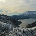 Independence Ridge and Norway Pass with Spirit Lake behind.- Mount Margaret via Norway Pass