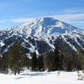 Mount Bachelor (9,068 ft), as seen from Tumalo Mountain.- Tumalo Mountain Snowshoe