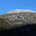 Tumalo Mountain as seen from Cascade Lakes Highway.- Tumalo Mountain Snowshoe