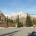 The paved parking lot at Norway Pass Trailhead.- Mount Margaret via Norway Pass
