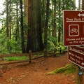 Entrance into Muir Woods National Monument.- Muir Woods via Deer Park Fire Road