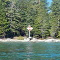 A light beacon on the west shore of Lake Tahoe.- Lake Tahoe, Rubicon Point to Tahoe City Paddle