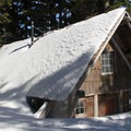 Tilly Jane Cabin is a stopping point for many skiers and snowshoers.- Cooper Spur Shelter via Tilly Jane Trail