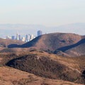 A quick glimpse of the San Francisco skyline from the Coyote Ridge Trail, Marin Headlands.- Marin Headlands + Golden Gate Recreation Area
