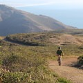 Mountain biking trails above Tennessee Valley, Marin Headlands.- Marin Headlands + Golden Gate Recreation Area