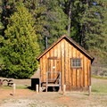 Three rustic miner cabins can be reserved for overnight stays.- Malakoff Diggins State Historic Park