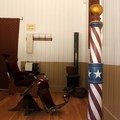 A glimpse inside the old barber shop. The mining town operates as a museum in the summer.- Malakoff Diggins State Historic Park