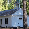 The chapel at the historic mining town of North Bloomfield, Malakoff Diggins State Park.- Malakoff Diggins State Historic Park