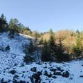 Spirit Falls Trail through talus field.- Spirit Falls Hike