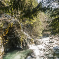 Little White Salmon River at Spirit Falls.- Spirit Falls Hike