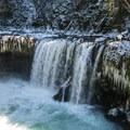 Spirit Falls, Little White Salmon River.- Spirit Falls Hike