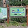 Helpful signage at the Fourth of July Creek Trailhead.- Washington Lake