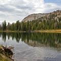 Ripples and reflections in the still waters of Washington Lake.- Washington Lake