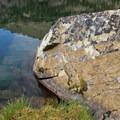 The clear blue water of Washington Lake.- Washington Lake
