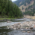 The spectacular Salmon River on the edge of the River of No Return Wilderness.- Sunbeam Hot Springs