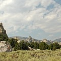 Beyond Castle Rock, other large rock formations continue to the north and west.- Castle Rocks State Park