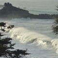 Crashing surf on Gualala Point Beach.- Gualala Point Campground