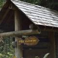 Fish station at Gualala River Redwood Park.- Gualala River Redwood Park