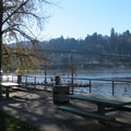 Picnic area at the Sellwood Riverfront Park- Sellwood Riverfront Park