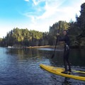 Early morning on the Albion River with contributor Nate Boucher. Timing your departure with the tide push makes for an easy paddle.- Albion Tidal River
