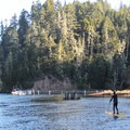 The Albion River is a great location for kayaking and stand-up paddle exploration. Park and launch from the campground.- Albion River Campground