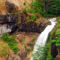 Lava Canyon Falls.- Mount St. Helens National Volcanic Monument