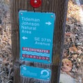 Access to Tideman Johnson City Park and Natural Area from the Springwater Corridor.- Tideman Johnson City Park and Natural Area