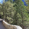 This lower section of the trail is paved to accomodate the high foot traffic seen in spring and summer months.- Vernal Falls Hike via Mist Trail