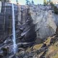 A low flow Vernal Falls in autumn.- Vernal Falls Hike via Mist Trail