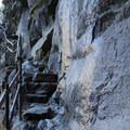 Nearing the top of Vernal Falls.- Vernal Falls Hike via Mist Trail