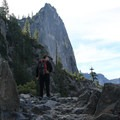 Hiking the Four Mile Trail below The Sentinel.- Four Mile Trail to Glacier Point