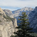 An early view of Tenaya Canyon and Half Dome.- Four Mile Trail to Glacier Point