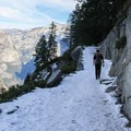 Lying primarily on north facing aspects, the upper sections can sometimes hold early season snow.- Four Mile Trail to Glacier Point