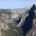 Half Dome standing watch over Tenaya Canyon and Mirror Lake.- Four Mile Trail to Glacier Point