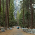 The path to Lower Yosemite Falls is paved and ADA accessible.- Lower Yosemite Falls