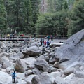 Viewing platform for Lower Yosemite Falls.- Lower Yosemite Falls